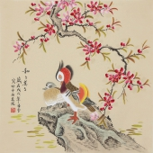 北京美协凌雪四尺斗方工笔画《和和美美》