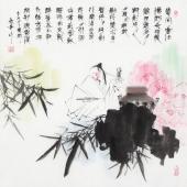张春奇 写意斗方《李白醉酒》 徐悲鸿纪念馆艺术中心理事