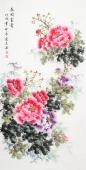 云志 四尺写意牡丹《花开富贵》 安徽美术家协会会员