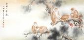 【已售】云志 四尺动物画《和睦一家亲》 安徽美术家协会会员