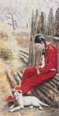 【已售】河南美协宋廷君四尺竖幅人物画《四月天》