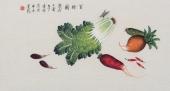 【已售】北京中央美院凌雪三尺横幅工笔画《百财图》