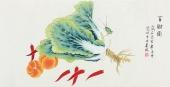北京中央美院凌雪三尺横幅工笔画《百财图》
