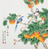 【已售】北京中央美院凌雪四尺斗方工笔画《事事如意》
