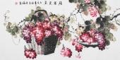 【已售】赵君梅四尺横幅国画葡萄《硕果累累》