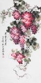 【已售】赵君梅四尺竖幅国画葡萄《果实累累》